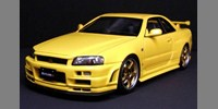 Nissan Nismo R34 GT-R S-tune lightning yellow