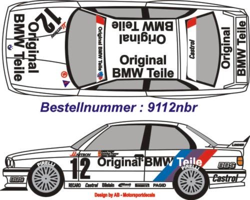 bmw m3 st nr 12 ausf nuerburgring 1991 m streifen. Black Bedroom Furniture Sets. Home Design Ideas