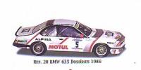 BMW 635 Csi Gr.A   St.Nr.     Jeanne d'Arc 1986 DOSIERS