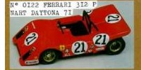 Ferrari 312 P Spyder   St.Nr. 21    Daytona 1971 N.A.R.T.