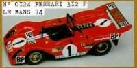 Ferrari 312 P Spyder   St.Nr. 1   9. Le Mans 1974 BP Andruet/Zeccoli